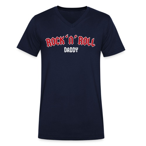 Rock 'n' Roll Daddy – lustige Geschenkidee - Männer Bio-T-Shirt mit V-Ausschnitt von Stanley & Stella