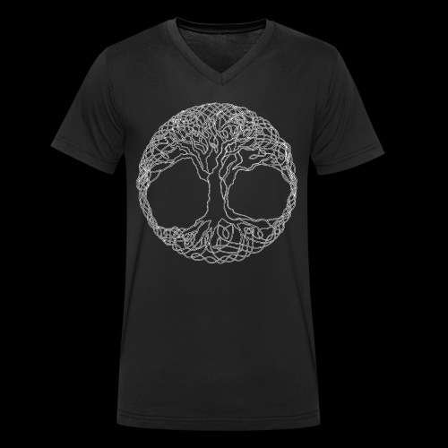 Tree of Life - Men's Organic V-Neck T-Shirt by Stanley & Stella