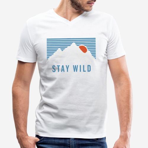 Berg bleiben wild - Männer Bio-T-Shirt mit V-Ausschnitt von Stanley & Stella