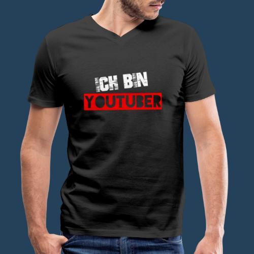 Ich bin Youtuber! (for dark shirts) - Männer Bio-T-Shirt mit V-Ausschnitt von Stanley & Stella