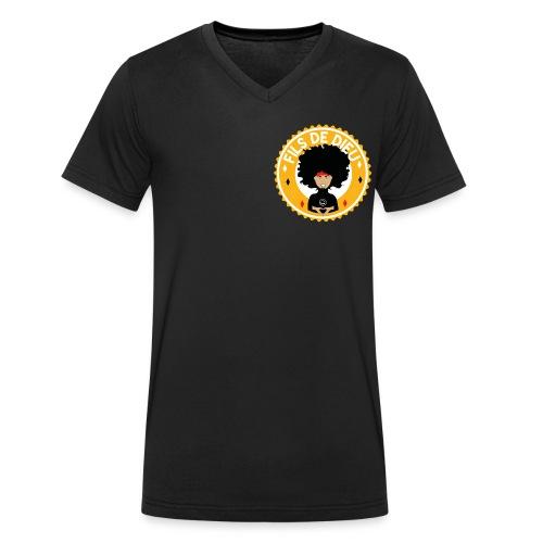 Fils de Dieu jaune - T-shirt bio col V Stanley & Stella Homme