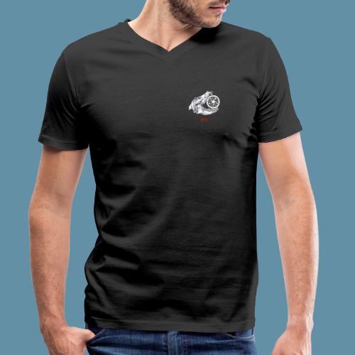 Hati skull png - T-shirt ecologica da uomo con scollo a V di Stanley & Stella