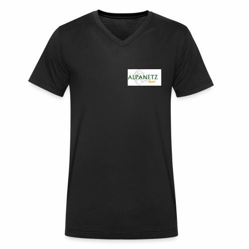 Alpanetz Logo Sport - Männer Bio-T-Shirt mit V-Ausschnitt von Stanley & Stella