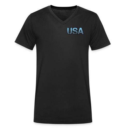 usa/estados unidos - Camiseta ecológica hombre con cuello de pico de Stanley & Stella