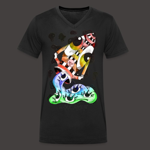 Verseau multi-color - T-shirt bio col V Stanley & Stella Homme