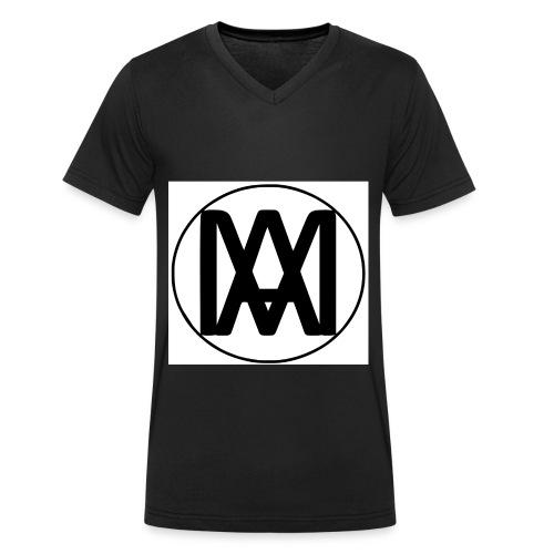 LOGO MAX vec petit - T-shirt bio col V Stanley & Stella Homme
