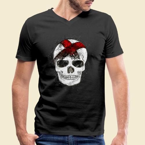 Radball | CycleBall Skull - Männer Bio-T-Shirt mit V-Ausschnitt von Stanley & Stella
