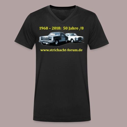 50jahre /8 strichacht-forum.de in gelb - Männer Bio-T-Shirt mit V-Ausschnitt von Stanley & Stella