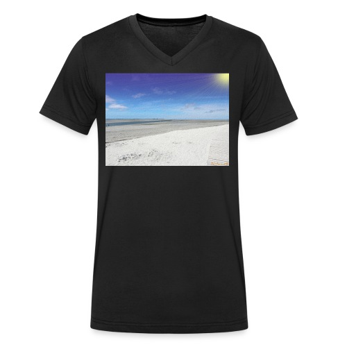 The Beach- La plage - T-shirt bio col V Stanley & Stella Homme