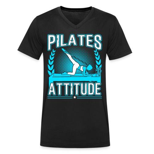 Pilates Attitude Funny Pilates Quotes - Männer Bio-T-Shirt mit V-Ausschnitt von Stanley & Stella