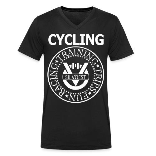 ramonesskv white - Männer Bio-T-Shirt mit V-Ausschnitt von Stanley & Stella