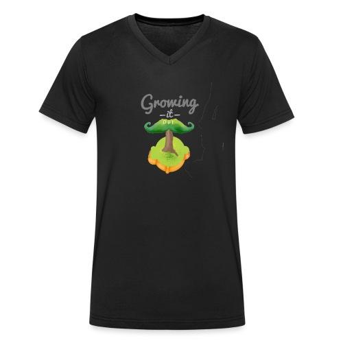 Moustache tree - Men's Organic V-Neck T-Shirt by Stanley & Stella