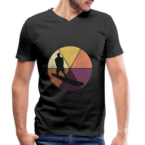 Wellenreiten - Männer Bio-T-Shirt mit V-Ausschnitt von Stanley & Stella