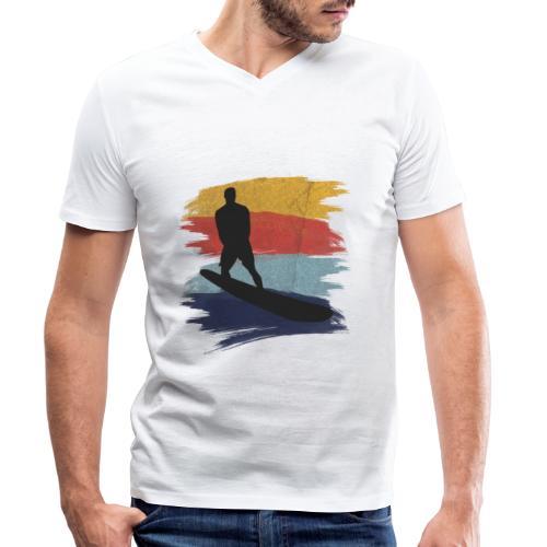 Wellenreiten Retro-Stil, Vintage - Männer Bio-T-Shirt mit V-Ausschnitt von Stanley & Stella