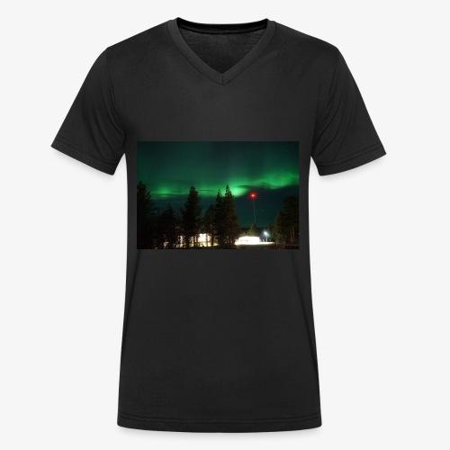 Aurora Boreale - T-shirt ecologica da uomo con scollo a V di Stanley & Stella
