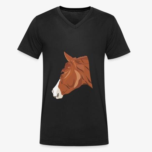 Quarter Horse - Männer Bio-T-Shirt mit V-Ausschnitt von Stanley & Stella
