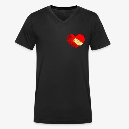 Herzschmerz - Männer Bio-T-Shirt mit V-Ausschnitt von Stanley & Stella