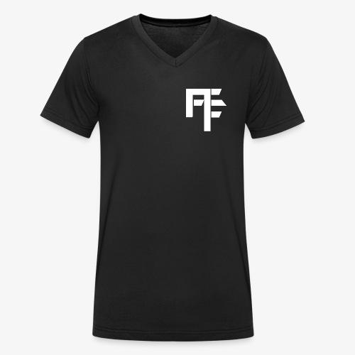 Petit Logo Teamfitfrance Blanc - T-shirt bio col V Stanley & Stella Homme