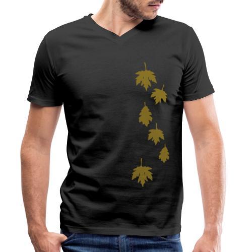 Herbstlaub - Männer Bio-T-Shirt mit V-Ausschnitt von Stanley & Stella