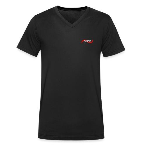 Since Basic Red & White - Männer Bio-T-Shirt mit V-Ausschnitt von Stanley & Stella