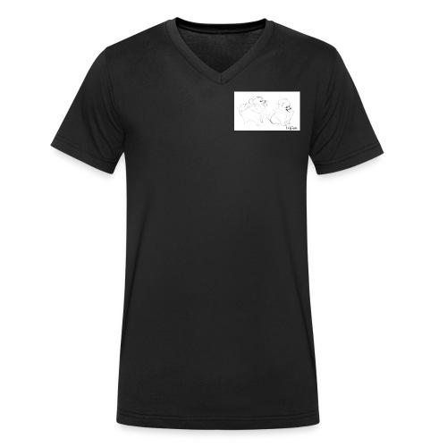 Artistic Yume - T-shirt ecologica da uomo con scollo a V di Stanley & Stella