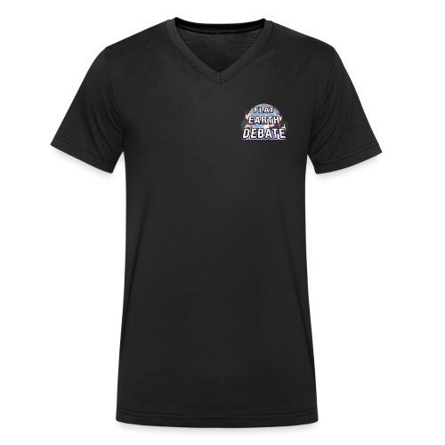 Flat Earth Debate Solid - Men's Organic V-Neck T-Shirt by Stanley & Stella