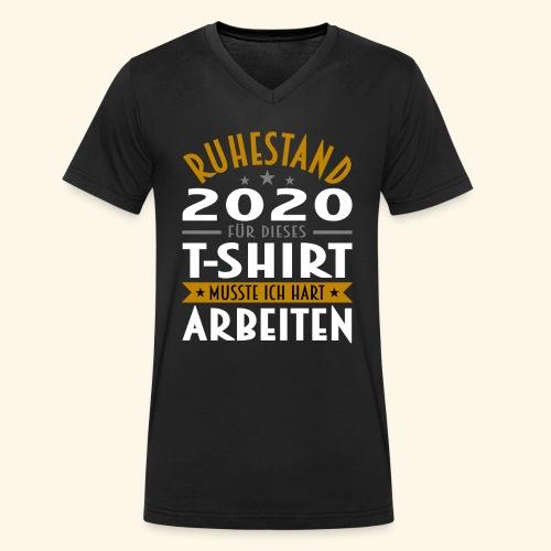 Ruhestand 2020 - Männer Bio-T-Shirt mit V-Ausschnitt von Stanley & Stella