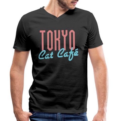 Tokyo Katzen Café Hobby Katze Haustiere - Männer Bio-T-Shirt mit V-Ausschnitt von Stanley & Stella