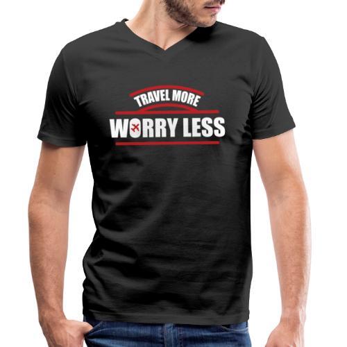 Reise mehr, bedenke Weniger Urlaubsfeeling - Männer Bio-T-Shirt mit V-Ausschnitt von Stanley & Stella