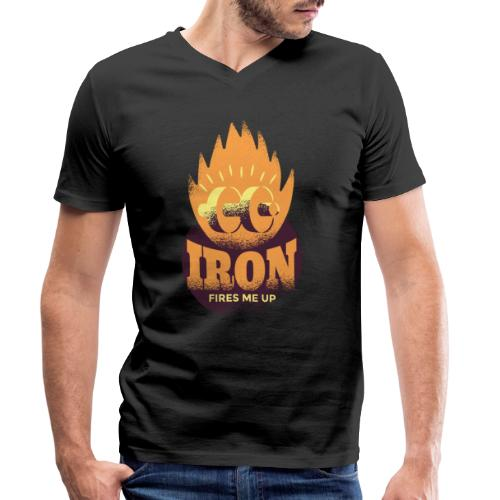 Eisen Feuer feuert mich an Bodybuilding Fitness - Männer Bio-T-Shirt mit V-Ausschnitt von Stanley & Stella
