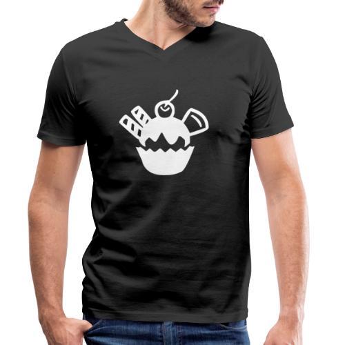 Eis und Eiscreme Symbol - Männer Bio-T-Shirt mit V-Ausschnitt von Stanley & Stella