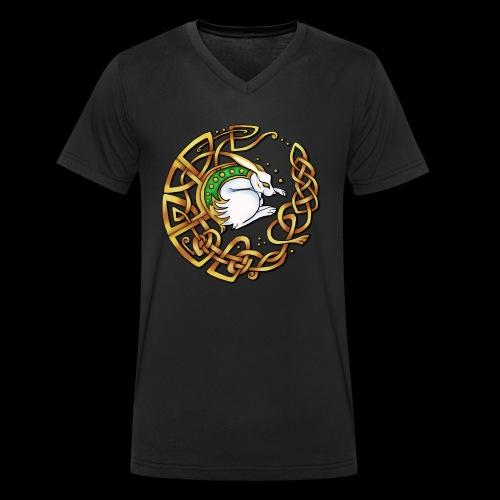 Celtic Hare - Men's Organic V-Neck T-Shirt by Stanley & Stella