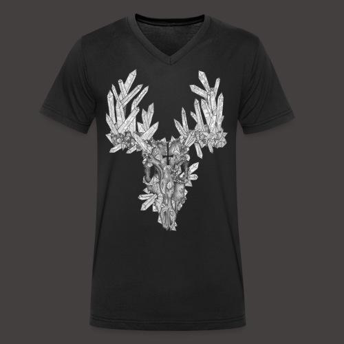 Le Cerf de Cristal - T-shirt bio col V Stanley & Stella Homme