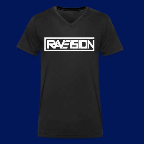 Raveision logo white - Männer Bio-T-Shirt mit V-Ausschnitt von Stanley & Stella
