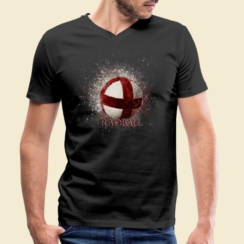 Radball | Ball - Männer Bio-T-Shirt mit V-Ausschnitt von Stanley & Stella