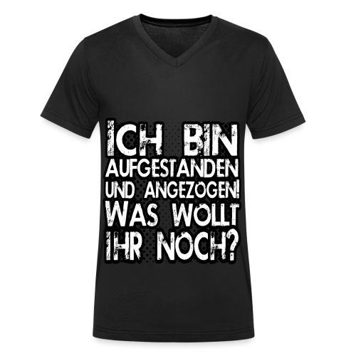 Was wollt ihr noch? - Männer Bio-T-Shirt mit V-Ausschnitt von Stanley & Stella