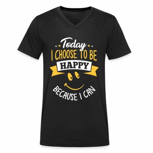 todayichoosetobehappy - Mannen bio T-shirt met V-hals van Stanley & Stella