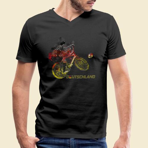 Radball   Deutschland - Männer Bio-T-Shirt mit V-Ausschnitt von Stanley & Stella