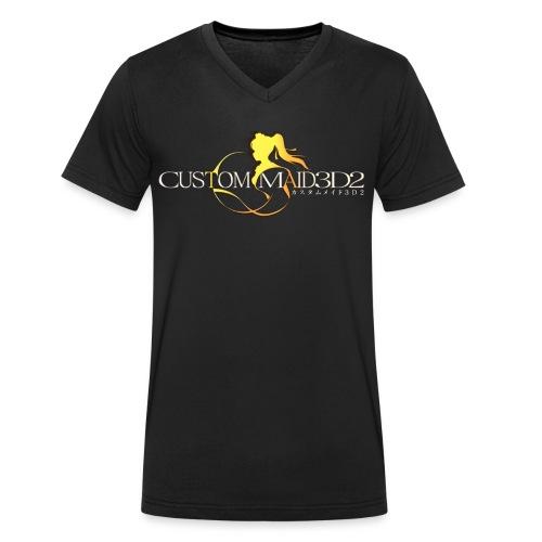 Custom Maid 3D 2 - Männer Bio-T-Shirt mit V-Ausschnitt von Stanley & Stella