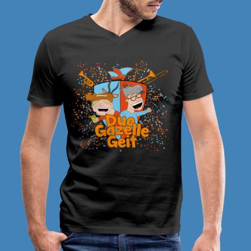 GazelleGeit - Mannen bio T-shirt met V-hals van Stanley & Stella