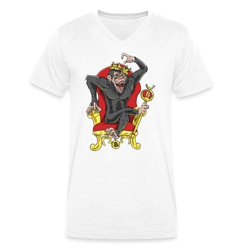 Bitcoin Monkey King - Beta Edition - Männer Bio-T-Shirt mit V-Ausschnitt von Stanley & Stella