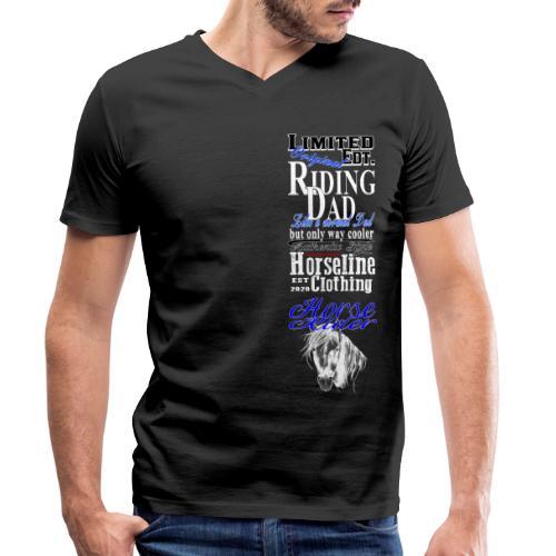 Limited Edition Riding Dad Pferd Reiten - Männer Bio-T-Shirt mit V-Ausschnitt von Stanley & Stella