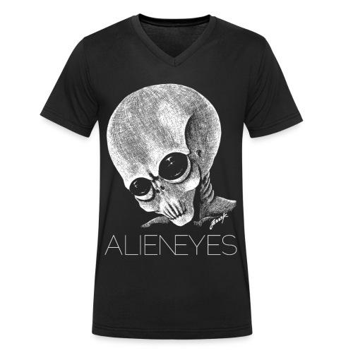 alieneyespng2 - Ekologisk T-shirt med V-ringning herr från Stanley & Stella