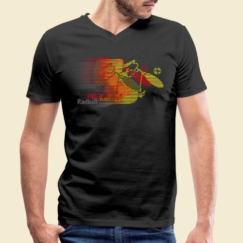 Radball   Earthquake Germany - Männer Bio-T-Shirt mit V-Ausschnitt von Stanley & Stella