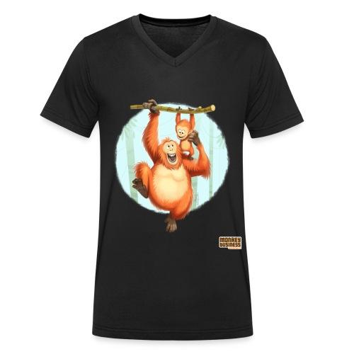 Kenneth anderson - Mannen bio T-shirt met V-hals van Stanley & Stella