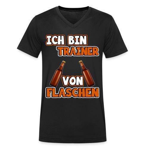 Ich bin Trainer von Flaschen | Lustig Spruch Coach - Männer Bio-T-Shirt mit V-Ausschnitt von Stanley & Stella