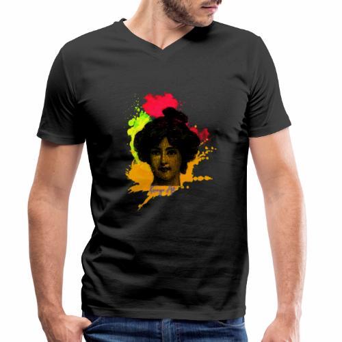 La Dame - T-shirt ecologica da uomo con scollo a V di Stanley & Stella