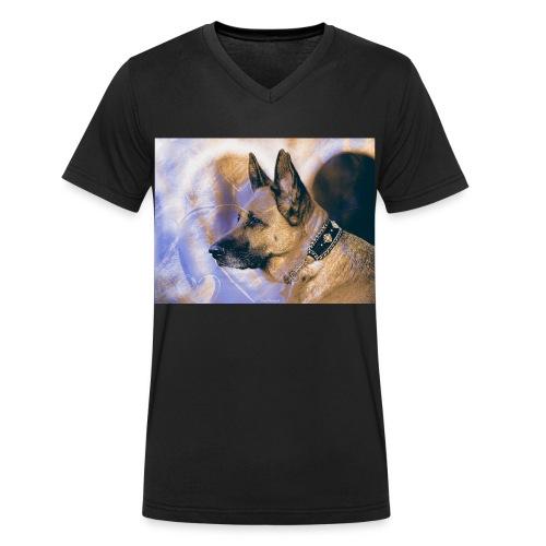 DOGLuxury Love Valentine - Männer Bio-T-Shirt mit V-Ausschnitt von Stanley & Stella
