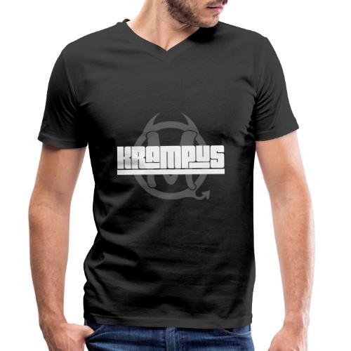 Krampus Shirt - Männer Bio-T-Shirt mit V-Ausschnitt von Stanley & Stella
