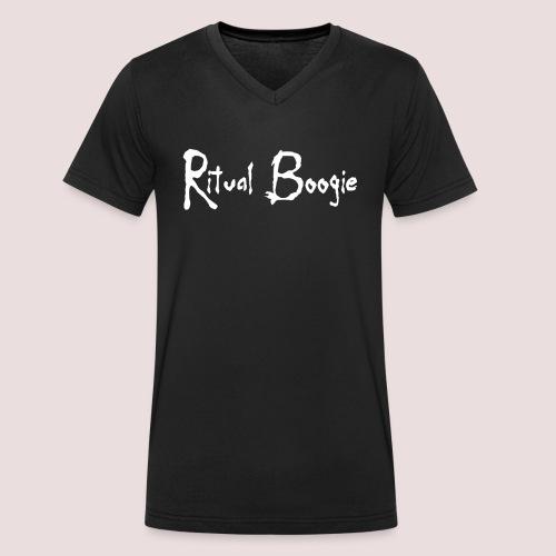 rblogo1 gif - Men's Organic V-Neck T-Shirt by Stanley & Stella